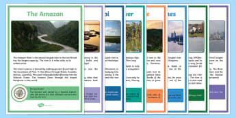 World Rivers Fact Posters - world rivers, world, river, fact posters, fact, posters, display
