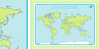 Map Of The World Sheet - map, map of the world, world, atlas, sheet, colour sheet, worldwide, geography, KS2, countries,