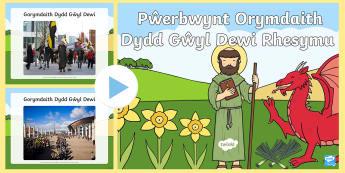 Pŵerbwynt Orymdaith Dydd Gŵyl Dewi Rhesymu - Dewi Sant (St David's Day 1.3.17), mathemateg rhesymu, Dewi Sant rhifedd, blwyddyn 2, blwyddyn 3, d