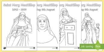 Saint Mary MacKillop Colouring Pages - Religion, colouring pages, colouring in, mary mackillop, saint mary mackillop, class display, art, c