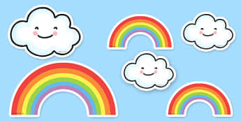Proud Cloud Display Pack Proud Cloud Display Cut Outs - proud cloud, cut outs