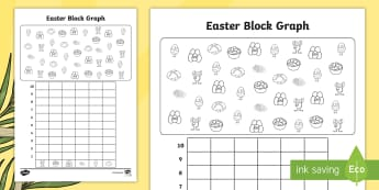 Easter Themed Count and Graph Activity Sheet - easter, data handling, graphs, KS1, year 1, eyfs,
