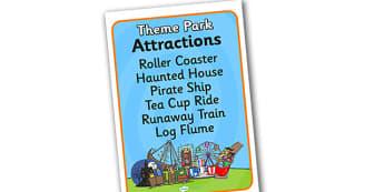 Theme Park Attraction List - theme park, attraction, list, attraction list, theme park attraction list, role play attraction list, theme park role play