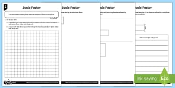 Scale Factor  Differentiated Activity Sheets - Ratio and Proportion, scale, scale factor, enlargement.