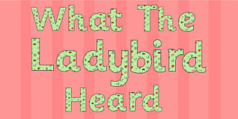 Display Lettering to Support Teaching on What the Ladybird Heard - what the ladybird heard, display lettering, display, lettering, letters, letters for display, themed letters