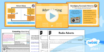 PlanIt - Computing Year 5 - Radio Station Lesson 5: Advertising Lesson Pack - planit, computing