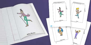 Character Description Interactive Writing Template to Support Teaching on Charlie and the Chocolate Factory