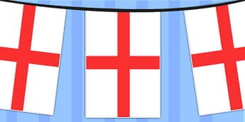 England A4 Flag Bunting - countries, geography, flags, country