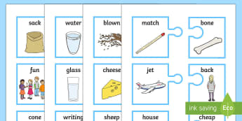 Rhyming Words on Jigsaw Matching Cards - Rhyming Words On Jigsaw Matching Cards, game, literacy, English, Language, speaking, listening, inte