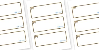 Bobcat Themed Editable Drawer-Peg-Name Labels (Blank) - Themed Classroom Label Templates, Resource Labels, Name Labels, Editable Labels, Drawer Labels, Coat Peg Labels, Peg Label, KS1 Labels, Foundation Labels, Foundation Stage Labels, Teaching Label