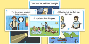Phase 3 Captions And Pictures Display Posters - display posters, word cards, matching activity, captions, pictures, matching, phase 3, phase three, DfES Letters and Sounds, Letters and sounds