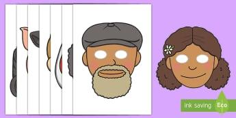 Grandad's Farm Story Role-Play Masks - ROI, Grandad's Farm, Farm, Masks, Role Play, Aistear,Irish