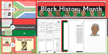 Black History Month Resource Pack - black history, history, siginificant people, famous people, civil rights, rights