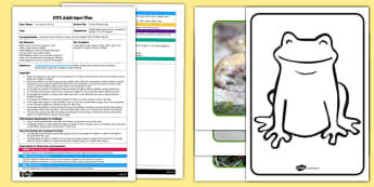 Colouring Mixing Frogs EYFS Adult Input Plan and Resource Pack