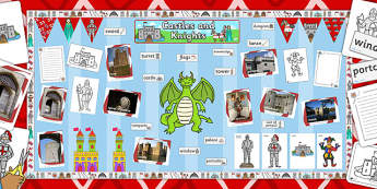 Ready Made Knights and Castles Display Pack - displays, knight