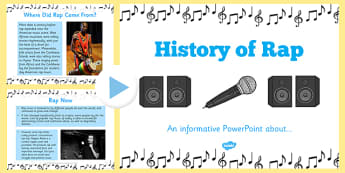 History of Rap PowerPoint - cfe, Literacy, poetry, rap, history of rap, powerpoint