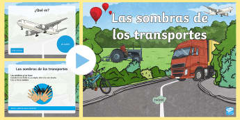 Transport Shadow PowerPoint Spanish - Spanish, Vocabulary, KS2, transport, shadow, powerpoint