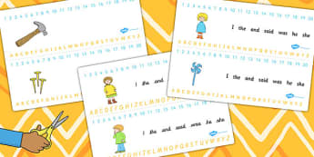 Combined Number and Alphabet Strips to Support Teaching on Titch - visual aid, strips