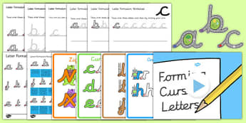 Cursive Handwriting and Letter Formation Pack - cursive, handwriting, letter formation, pack