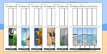 Summer Themed Number Sequencing Photo Puzzles - numbers, order