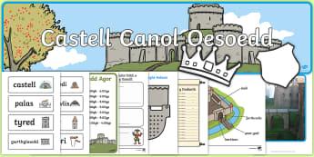 Pecyn Chwarae Rôl Castell Canol Oesoedd - castell, cestyll, canol oeseodd, canol oesol, chwarae rol, hanes, ,Welsh