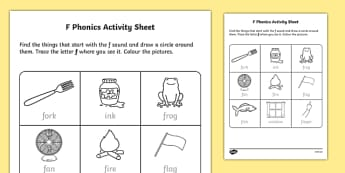 f Phonics Activity Sheet-Irish, worksheet
