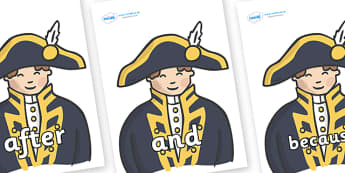 Connectives on Admirals - Connectives, VCOP, connective resources, connectives display words, connective displays