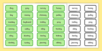 Alternative Pronunciation of EY Sorting Game - phonics, phase 5, phase 5 DfE, letters and sounds