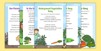 Vegetable Themed Songs and Rhymes Resource Pack