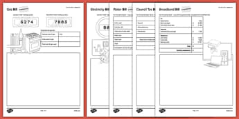 Budget at Home: Bills Bills Bills Activity Sheet Pack GCSE Grades 4-5 - KS3, KS4, GCSE, Maths, Finance, Budget, Home, worksheet
