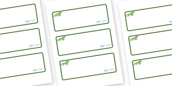 Iguana Themed Editable Drawer-Peg-Name Labels (Blank) - Themed Classroom Label Templates, Resource Labels, Name Labels, Editable Labels, Drawer Labels, Coat Peg Labels, Peg Label, KS1 Labels, Foundation Labels, Foundation Stage Labels, Teaching Label
