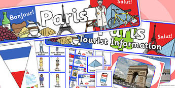 Paris Tourist Information Office Role Play Pack-paris, tourist information, tourist, role play, role play pack, paris pack, tourist, activity