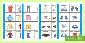 Clothes Loop Cards Gaeilge - ROI, Clothes, Gaeilge, vocabulary, vocab, words, phrase, language, Éadaí, dominoes,Irish