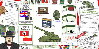 World War Two Lapbook Creation Pack - lapbook, pack, world war 2