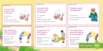 Easter Inference Picture Cards French - KS3, French, Easter, inference, picture, cards, Pâques, speaking, writing, differentiation, activit