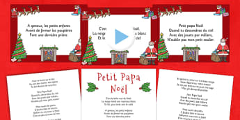 Paroles du chant de Noël Entre le boeuf et l'âne gris Powerpoint - french, twas the night before christmas, pack, christmas