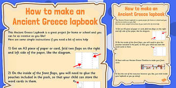 Ancient Greece Lapbook Instructions - lapbook, instructions