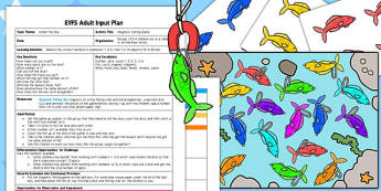 Magnetic Fishing Game EYFS Adult Input Plan and Resource Pack - games, activities