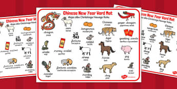 Chinese New Year Word Mat Polish Translation