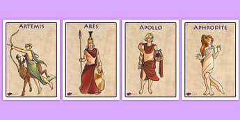 Ancient Greek Gods Display Posters - ancient greece, greeks