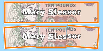 Scottish Significant Individuals Mary Slessor Display Banner - Scottish significant individual, Christian, missionary, Nigeria