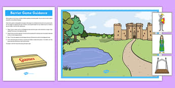 Castle Barrier Game - castle, barrier game, eal, barrier, game, activity