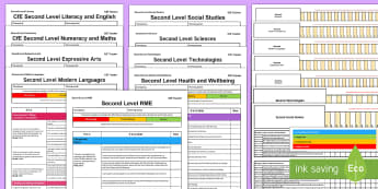 CfE Second Tracking and Assessment Bumper Planning Pack - CfE Tracking and Assessment, tracker, planning, monitoring, progression