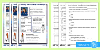 KS1 Dottie Metcalf-Lindenburger Differentiated Comprehension Go Respond Activity Sheets - Develop pleasure in reading, motivation to read, vocabulary and understanding, Understand what they