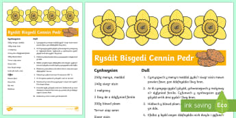 Daffodil Biscuits Recipe Welsh - welsh, cymraeg, spring, daffodil, flowers, biscuits recipe, biscuits, recipe