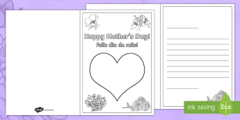 Mother's Day Fingerprint Cards English/Portuguese - mothers, mother's day, painting, craft, finger, painting, portuguese, portugese, brazil, EAL, trans