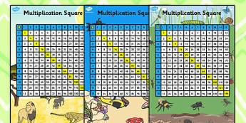 Multiplication Squares 12x12 - multiplication grid, multiply