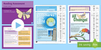 Year 1 Term 3 Paper 2 Reading Assessment Guided Lesson Teaching Pack - read, test, powerpoint, year 1, Y1, comprehension, assessment presentation, peer assessment, teacher