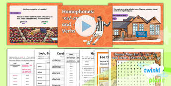PlanIt Y6 Term 1A W2: Homophones (ce/cy nouns and se/sy verbs) Spelling Pack