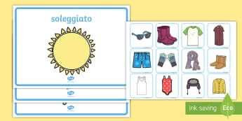 Organizza i Vestiti Rispetto al Meteo Attività - organizza, i, vestiti, guardaroba, vestire, stagioni, tempo, meteo, attività, italiano, italian, ma